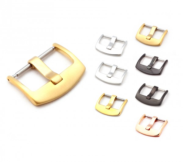 "Tang Buckle for Watch Bands, Model ""OEM"", 20-26 mm, 4 colors, new!"