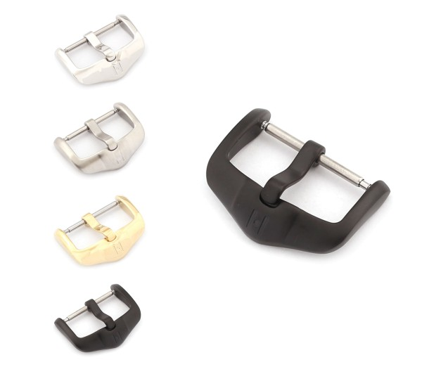 """HIRSCH Spring-Bar Tang Buckle, Model """"Active"""" 16-24 mm, 3 colors, new!"""